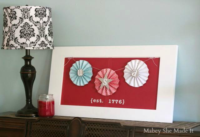 USA Fourth of July Decor | Mabey She Made It | #fourthofjuly #USA #4thofjuly #homedecor