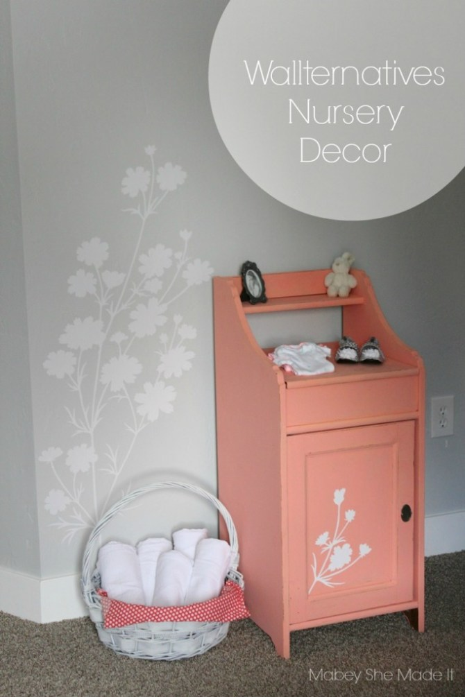 Wallternatives Nursery Decor | Mabey She Made It | #vinyl #wallternatives #nursery