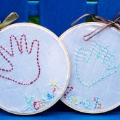 Embroidered Hand Print Tutorial