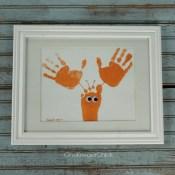 How to Make Sea Animal Framed Handprint Art