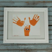 How to Make Sea Animal Framed Handprint Art