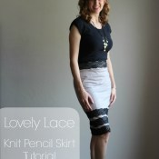 Lovely Lace Pencil Skirt