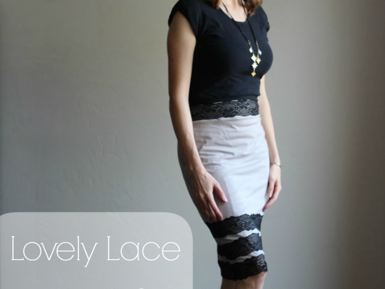 Tutorial for a Lovely Lace Knit Pencil Skirt | Mabey She Made It | #sewing #pencilskirt #selfishsewing #stretchlace