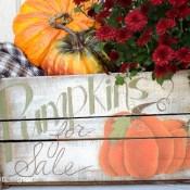 Handpainted Pumpkin Crate