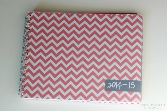 Personalized Planner | Mabey She Made It for PinkWhen | #glitter #personalization #organization #planner