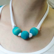 Tie-dyed Bead Necklaces