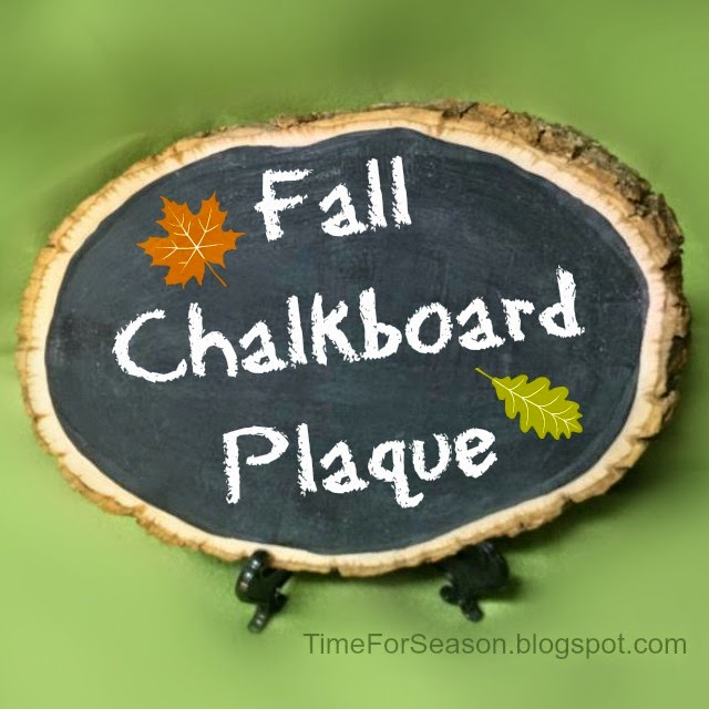 Fall Chalkboard Plaque 9