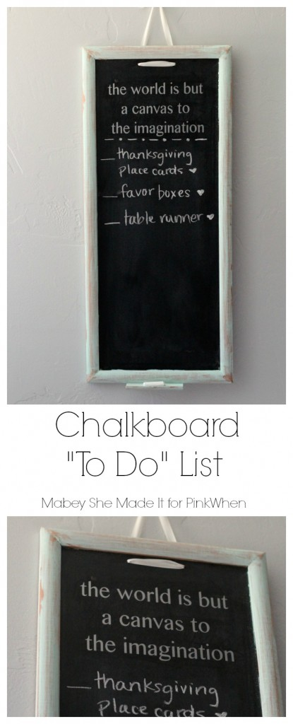 Chalkboard To Do List | Mabey She Made It | #chalkboard #list #organization