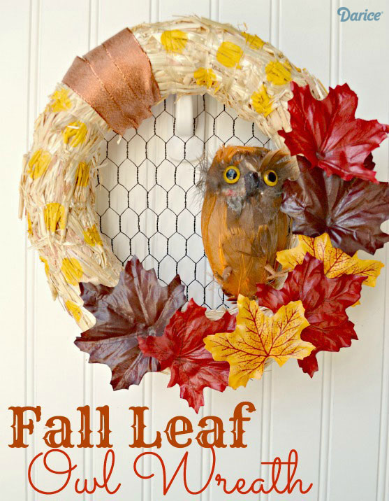 Fall-Leaf-Owl-Wreath-from-The-Cards-We-Drew-via-Darice11