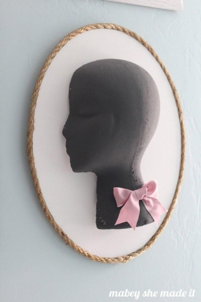 Foam Head Cameo | Mabey She Made It | #foamhead #floracraft #makeitfuncrafts #girl #silhouette