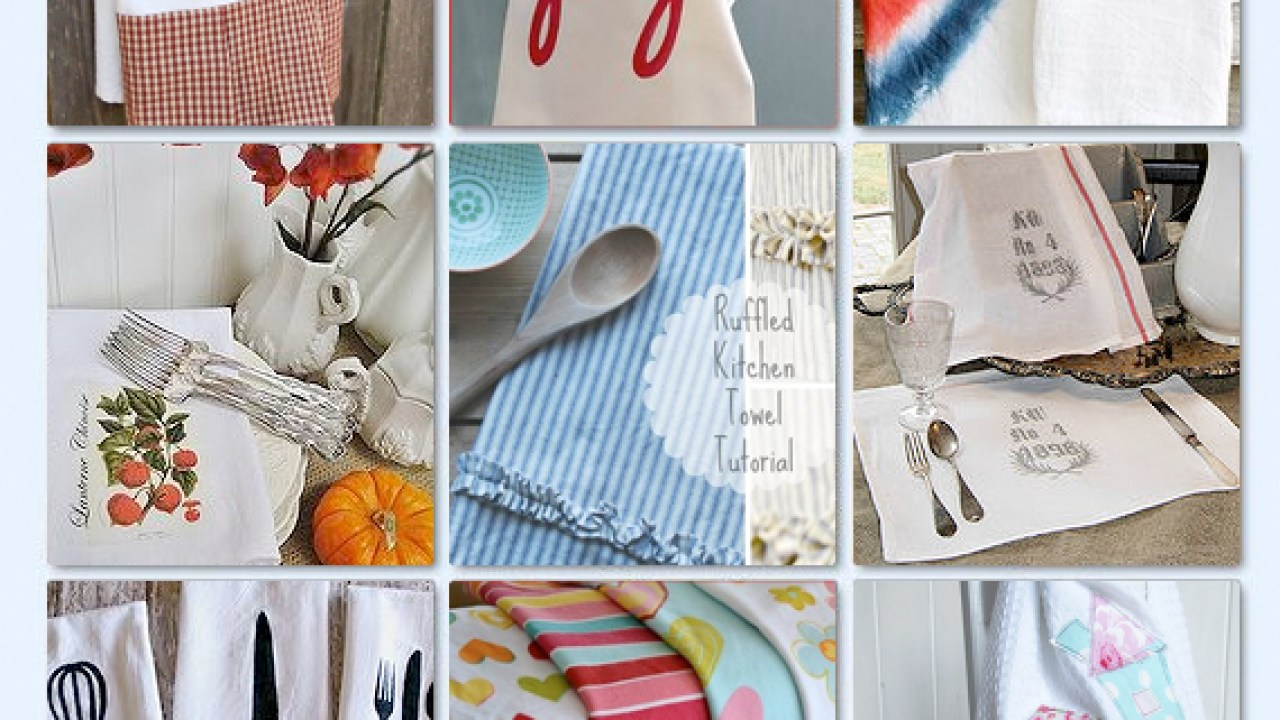 18 DIY Kitchen Towels • Mabey She Made It