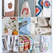 18 DIY Kitchen Towels