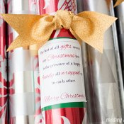 Christmas Gift Wrap Printable (Neighbor Gift Idea)