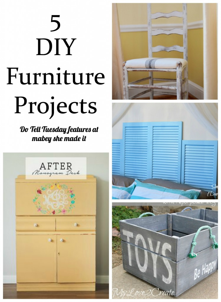5 DIY Furniture Projects at Mabey She Made It