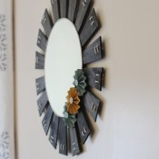 DIY Sunburst Mirror: Lamp Shade Upcycle