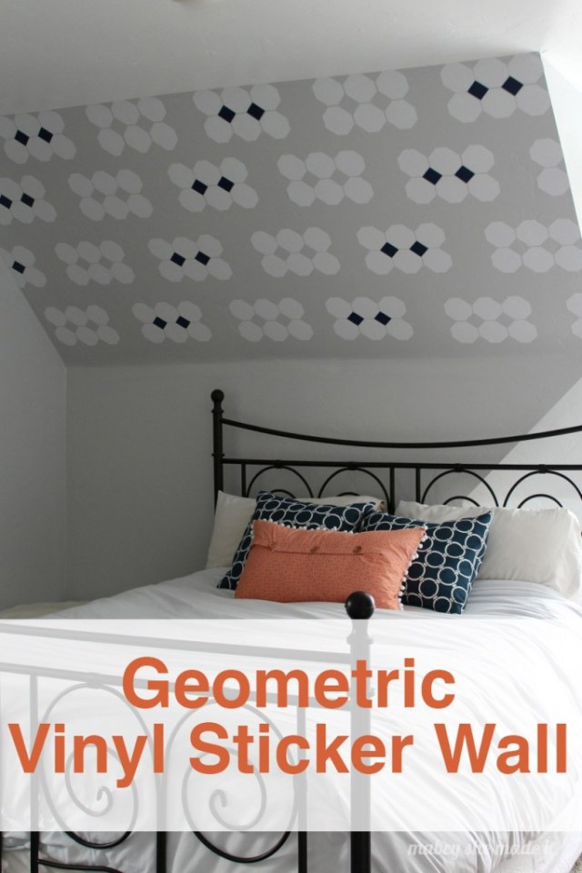 Geometric Vinyl Sticker Wall Tutorial | Mabey She Made It