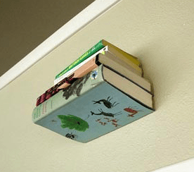Invisible Bookshelves DIY