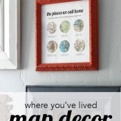 Oh The Places You've Lived (Map Decor)