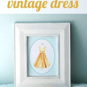 Vintage Dress Watercolor Printable