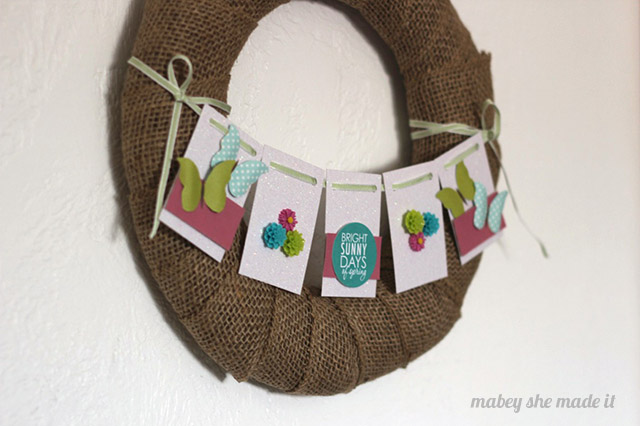 Make this simple and cute butterfly spring wreath using this simple tutorial from Mabey She Made It.