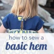 How to Sew a Hem Tutorial