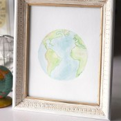 Watercolor Earth Printables