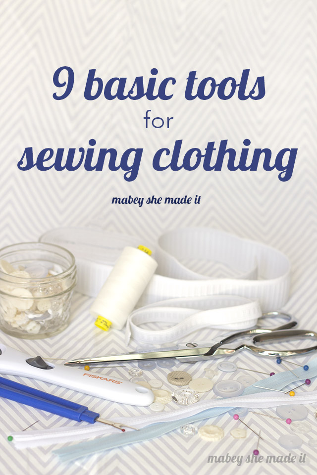 Basic Sewing supplies to sew clothes. Sewing Supplies List
