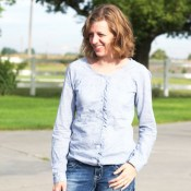 Ruffled Raglan Refashion