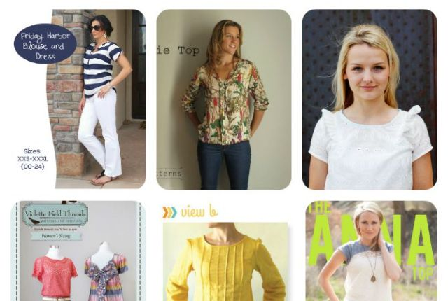Banish the mom uniform! These 11 Top patterns that will help you ditch the t-shirt!