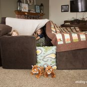 Snowy Day Sofa Fort Building