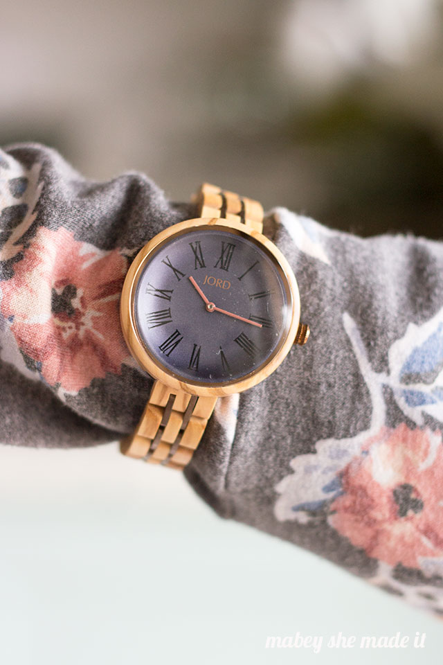 Styling a wood watch