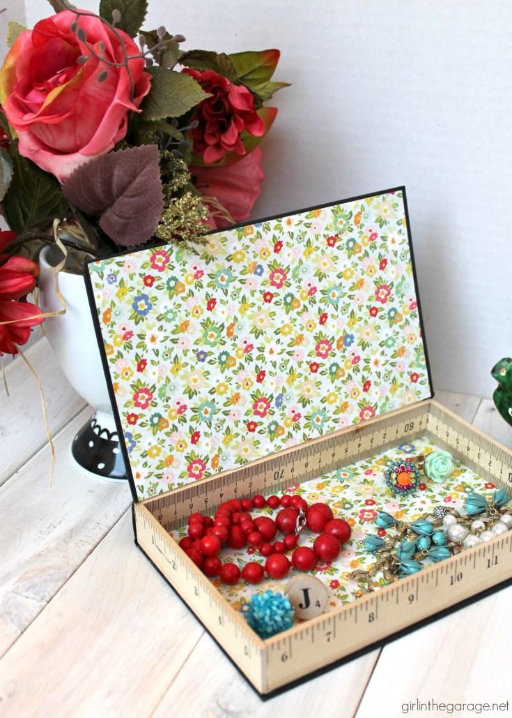 Repurposed Book Cover Storage Box