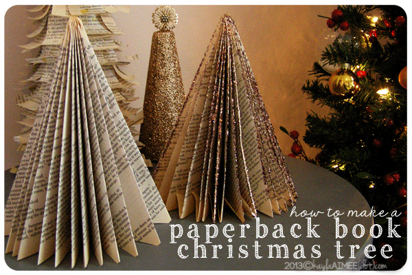 How To: Make A Paperback Christmas Tree