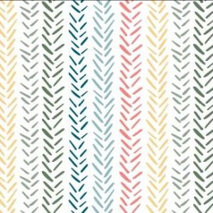 Rainbow Herringbone print available at Raspberry Creek Fabrics