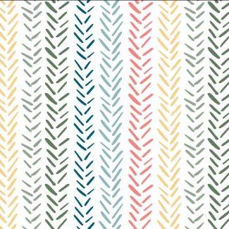 Rainbow Herringbone print available at Raspberry Creek Fabrics