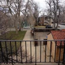 La vue du balcon