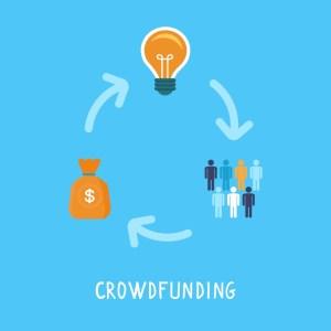 Illustration du fonctionnement du crowdfunding