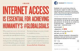 Facebook veut l'accès à internet pour tous.