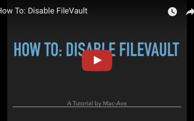 How To: Disable FileVault