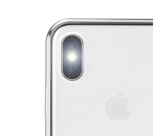 timeless design a2796 904d8 Vitros for iPhone X - Clear Protective Case by Moshi (Jet Silver)