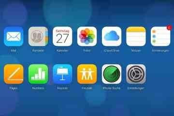 iCloud.com: Web-App Übersicht im Launchpad