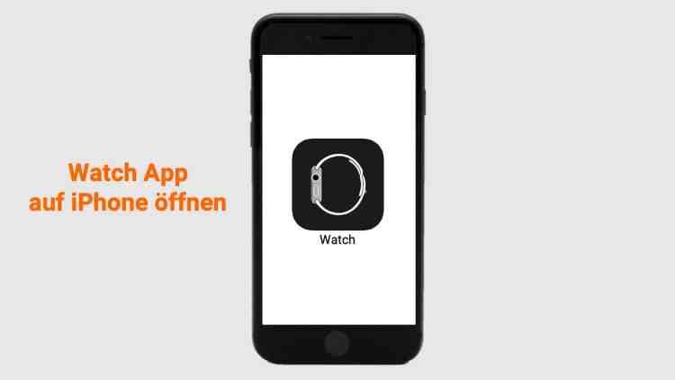 Für die Einrichtung auf der Apple Watch dann die Watch App auf dem iPhone öffnen.