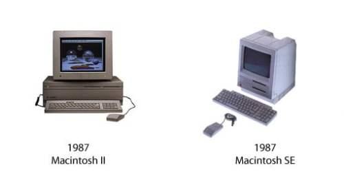 Macintosh II und Macintosh SE