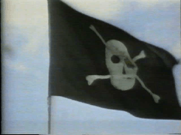 "Pirate flag above the Mac developers' building ""Bandley III"""