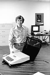 Mike Markkula at the Apple offices April 1, 1977