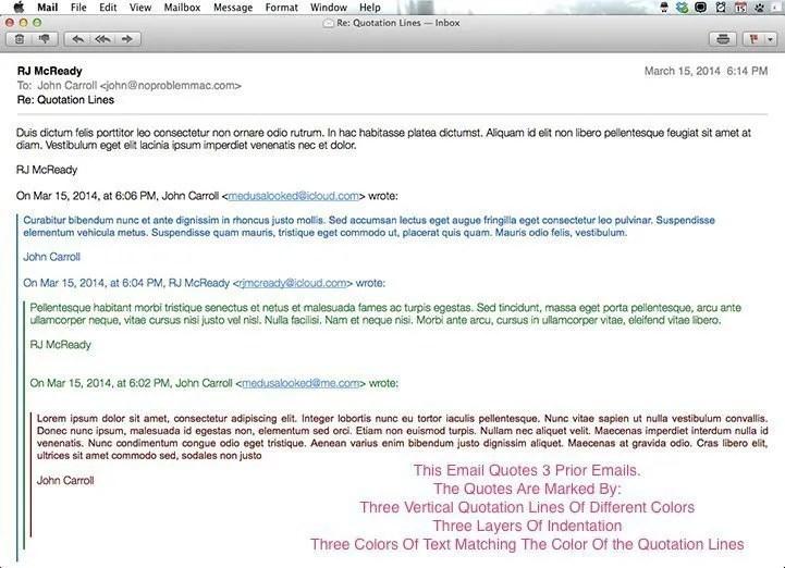 long mac mail reply chain
