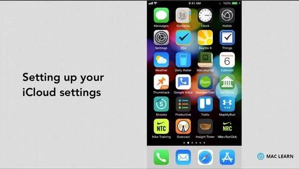 Customizing your iCloud settings on iPhone