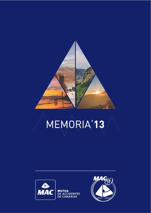 Portada de la Memoria anual 2013