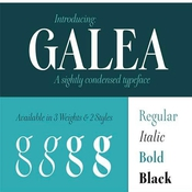Galea Display Font Family 4 Font icon