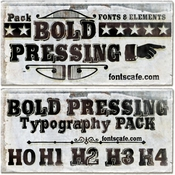 Bold Pressing Pack Font Family 7 Fonts icon